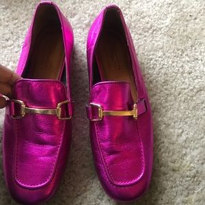 Metallic Pink Loafer